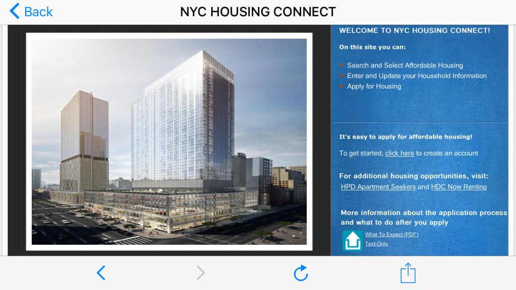 На сайте мэрии Нью-Йорка всегда можно посмотреть варианты доступного жилья. Фото: 1.nyc.gov
