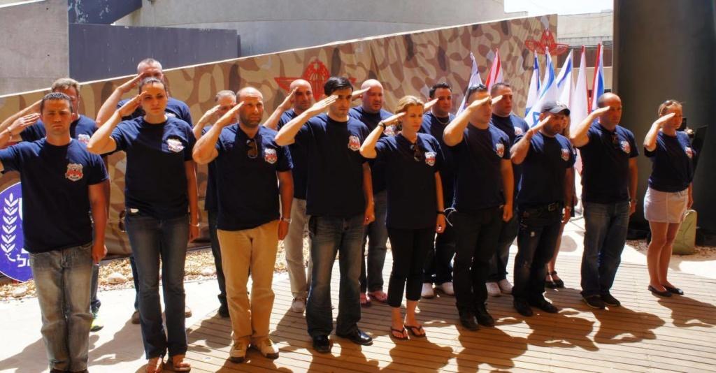 Полицейские Нью-Йорка делятся своим опытом в Израиле. Фото: Шимон Бриман
