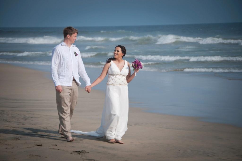 Красивая церемония свадьбы Сюзанны и Брайтйяра состоялась в Мексике. Фото из личного архиваю