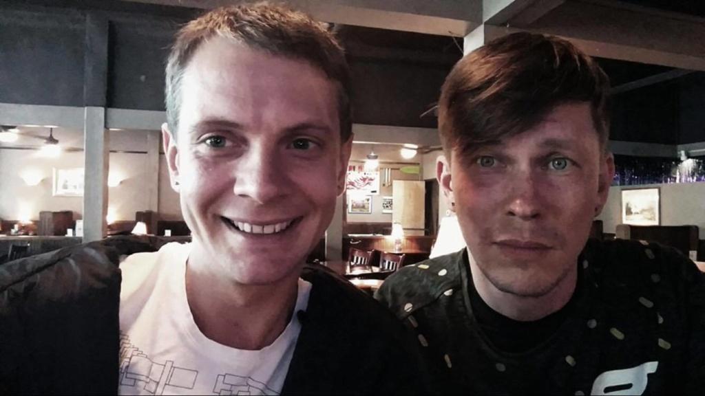 Слева направо: Денис Давыдов и Сергей Пискунов. Фото из личного архива