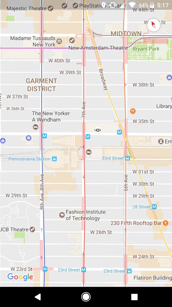 Bryant Park Subway Map.Google Creates New York Subway Map Forumdaily