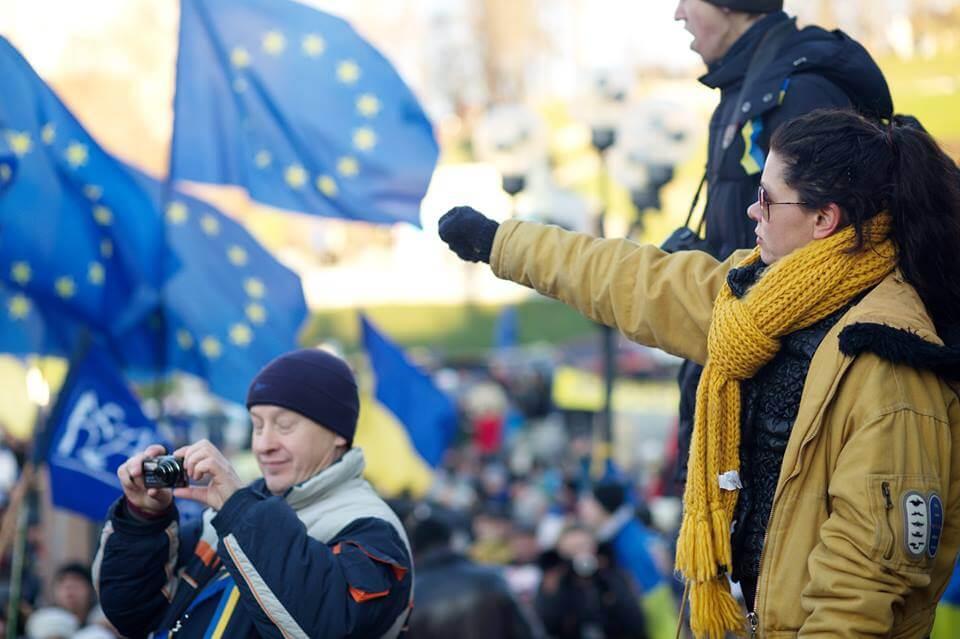 Руслана на Майдане. Фото: предоставлено пресс-службой.