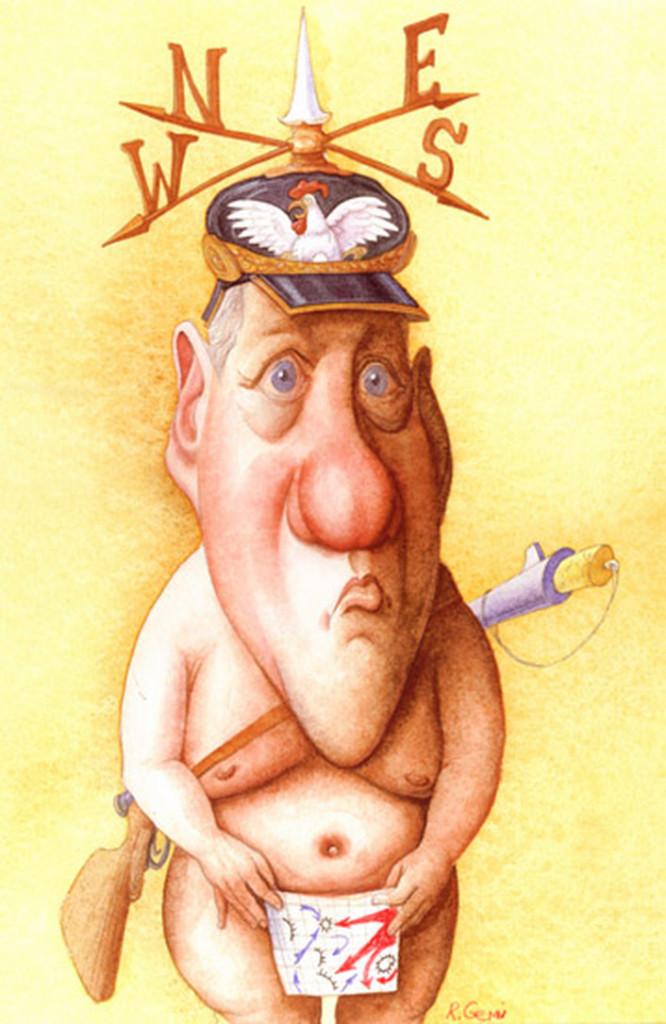 Карикатура на Билла Клинтона