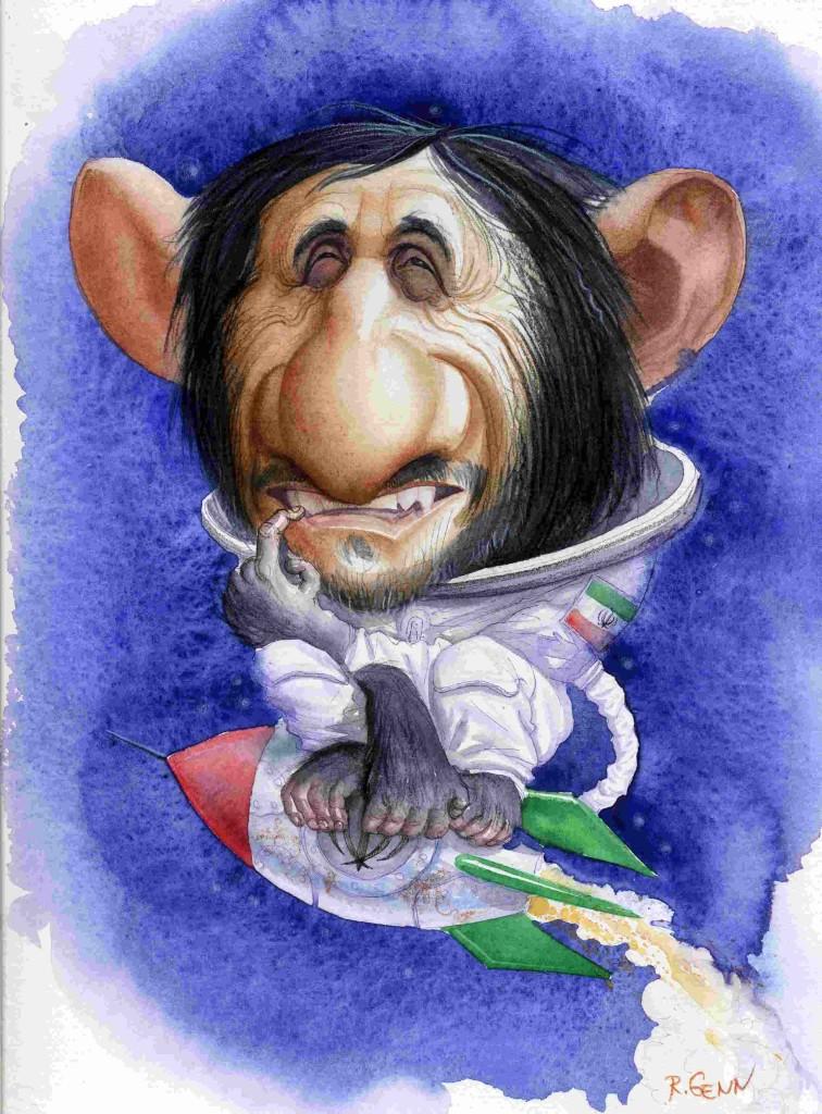 Карикатура Романа Генна на бывшего президента Ирана Махмуда Ахмадинежада