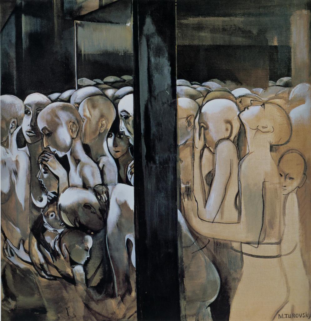 """Картина Михаила Туровского из цикла """"Холокост""""."""