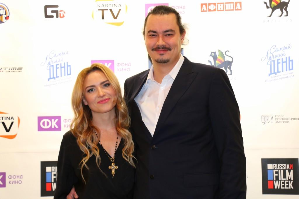 В Нью-Йорк режиссер Жора Крыжовников приехал вместе с женой - Юлией Александровой. Фото Дениса Чередова