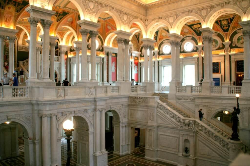 Библиотека Конгресса. Центральный холл. Фото: Danny Fowler, flickr.com