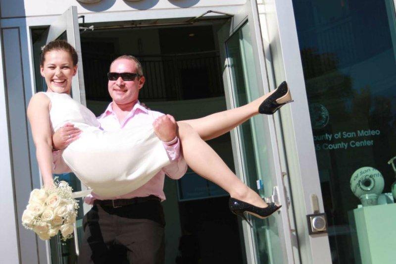 Евгений и Анна Паршуткины в день свадьбы