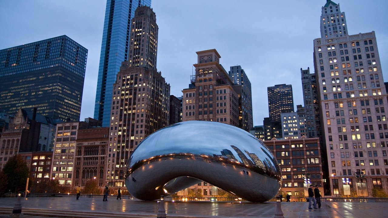 Обои ж/д дорога, небоскребы, chicago, чикаго. Города foto 13