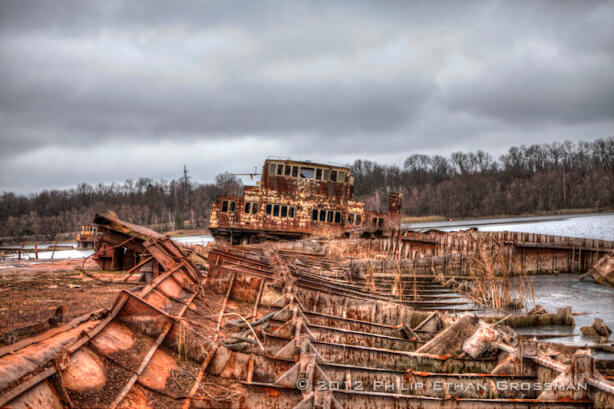 Decomposing Ship in Ship Graveyard