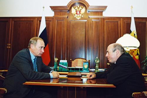 Президент Владимир Путин и израильский министр Натан Щаранский на встрече в Кремле, 2000 г. Фото: из личного архива Н.Щаранского.