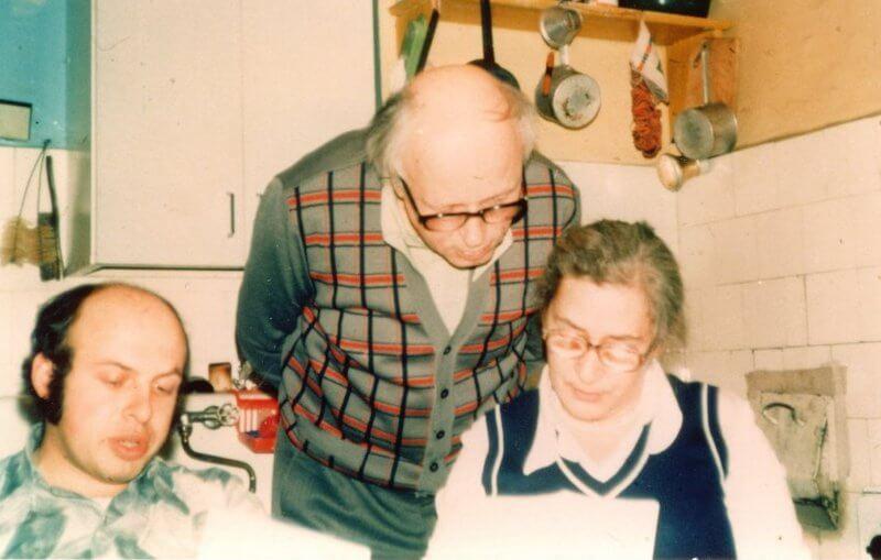 Анатолий (Натан) Щаранский, академик Андрей Сахаров и Елена Боннер в Москве, 1976 г. Фото: личный архив Щаранского.
