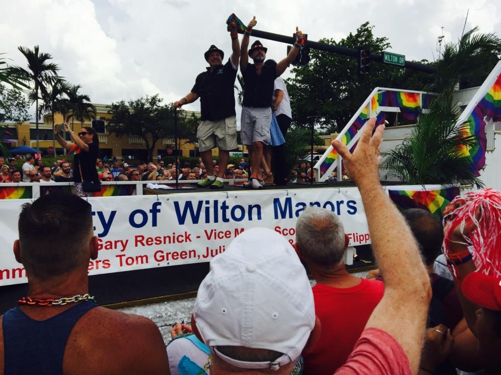 Мэр Уилтон-Мэйнорс Гэри Ресник (слева) и вице-мэр Cкотт Ньютон. Фото: Рафаэль Априам