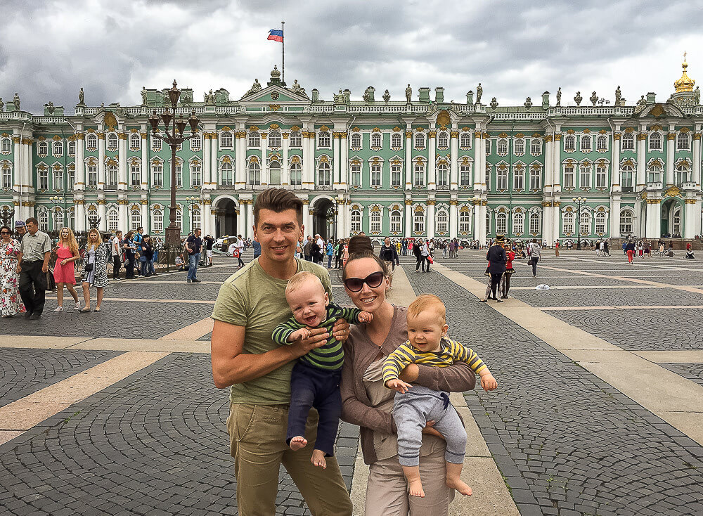 Volkov family on vacation in St. Petersburg. Photo from the personal archive of the author.