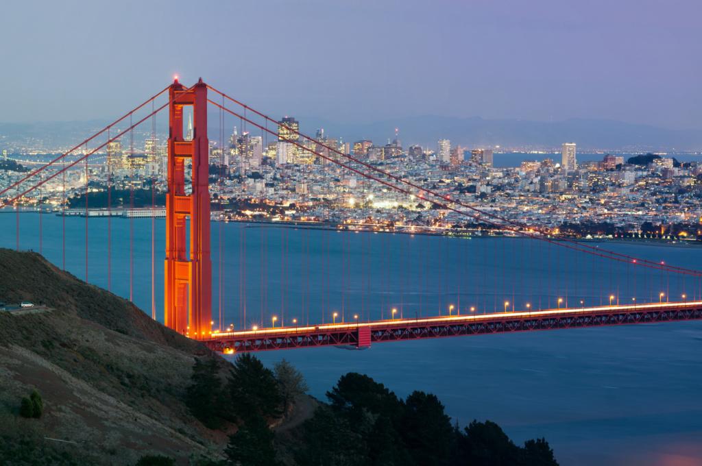 Мост Золотые ворота - визитная карточка Сан-Франциско. Фото: Depositphotos
