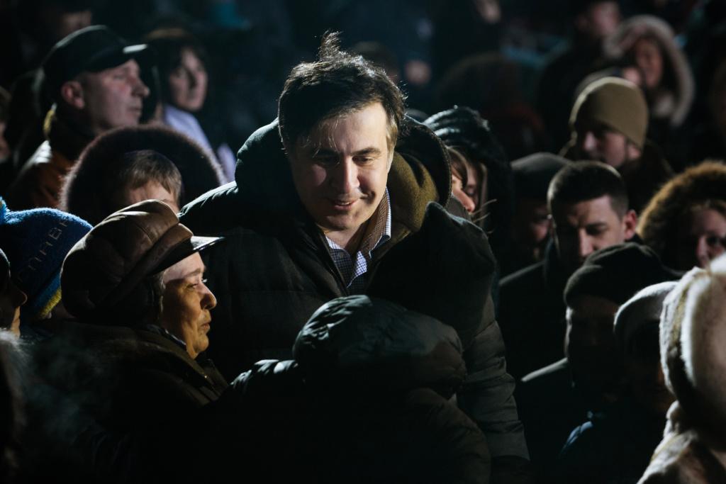 Михаил Саакашвили в Киеве. Фото: Depositphotos