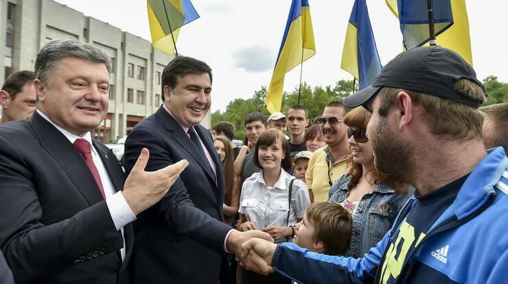 Порошенко представляет Саакашвили активу Одесской области. Май 2015 года. Фото Администрации Президента