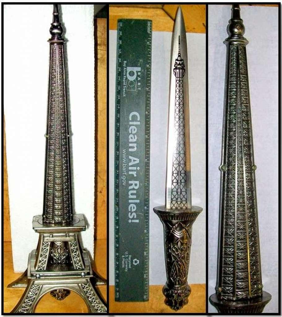 Нож замаскирован под Эйфелеву башню. Фото: instagram.com/tsa/