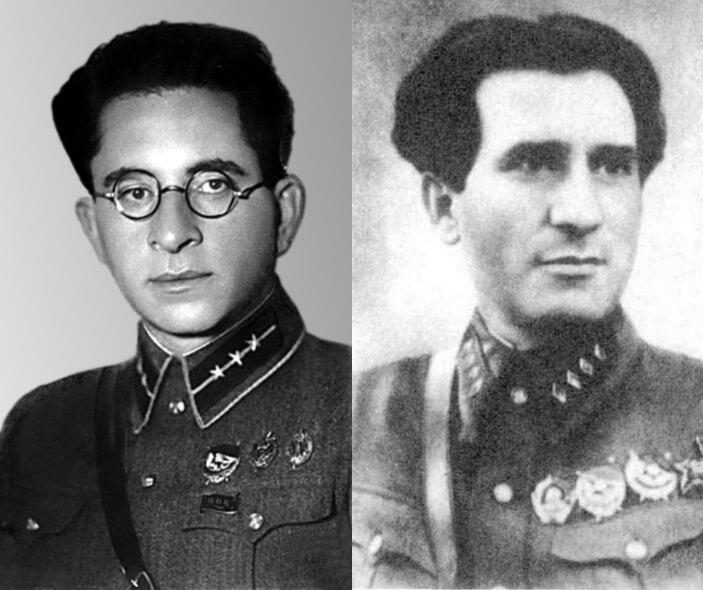 Соломон Мазо (слева) и Израиль Леплевский (справа).