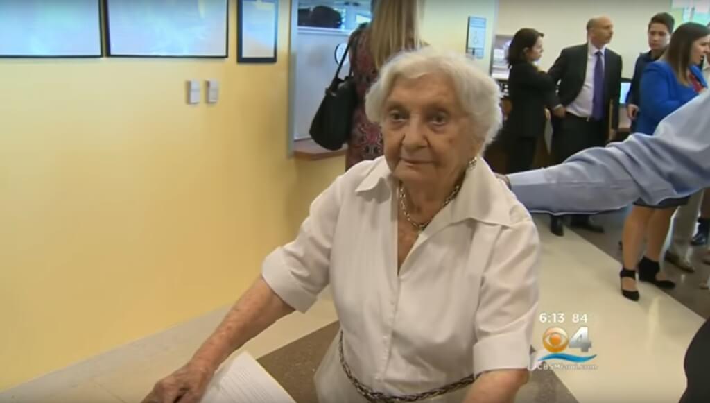 100-летняя Меня Перельман. Фото: кадр видео YouTube