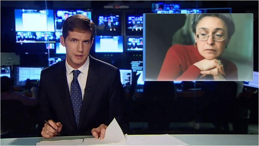 Тихон Дзядко во время эфира на RTVi. Фото предоставлено RTVi.com