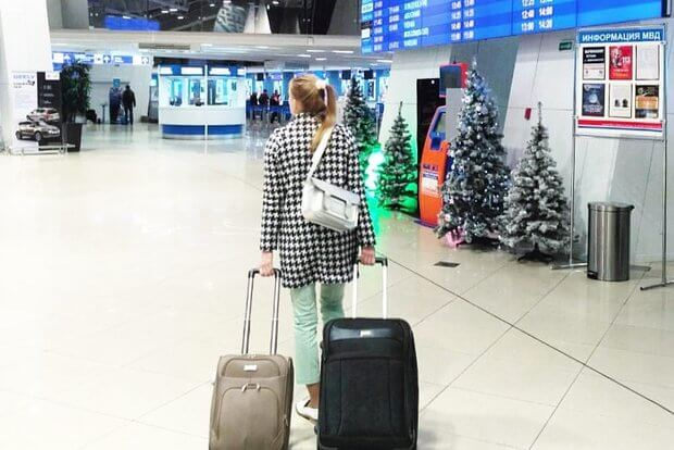Вылет из Минска в США. Фото из Instagram Яны.