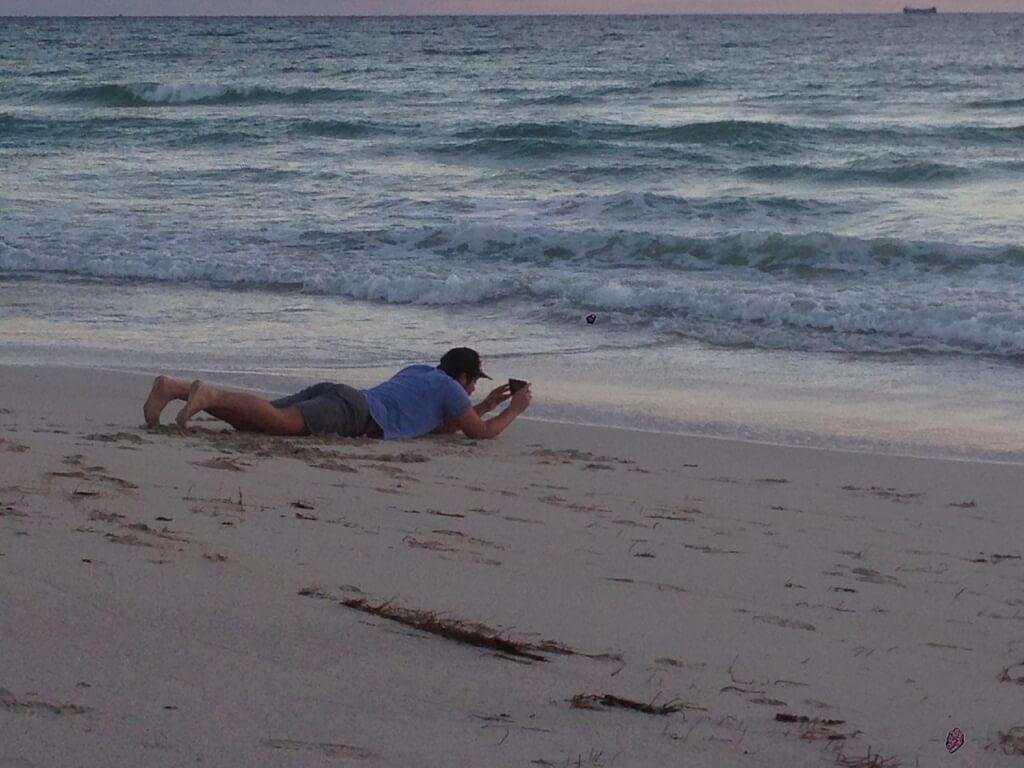 Новый год на пляже - это романтично. Фото: из личного архива Сергея Смирнова.