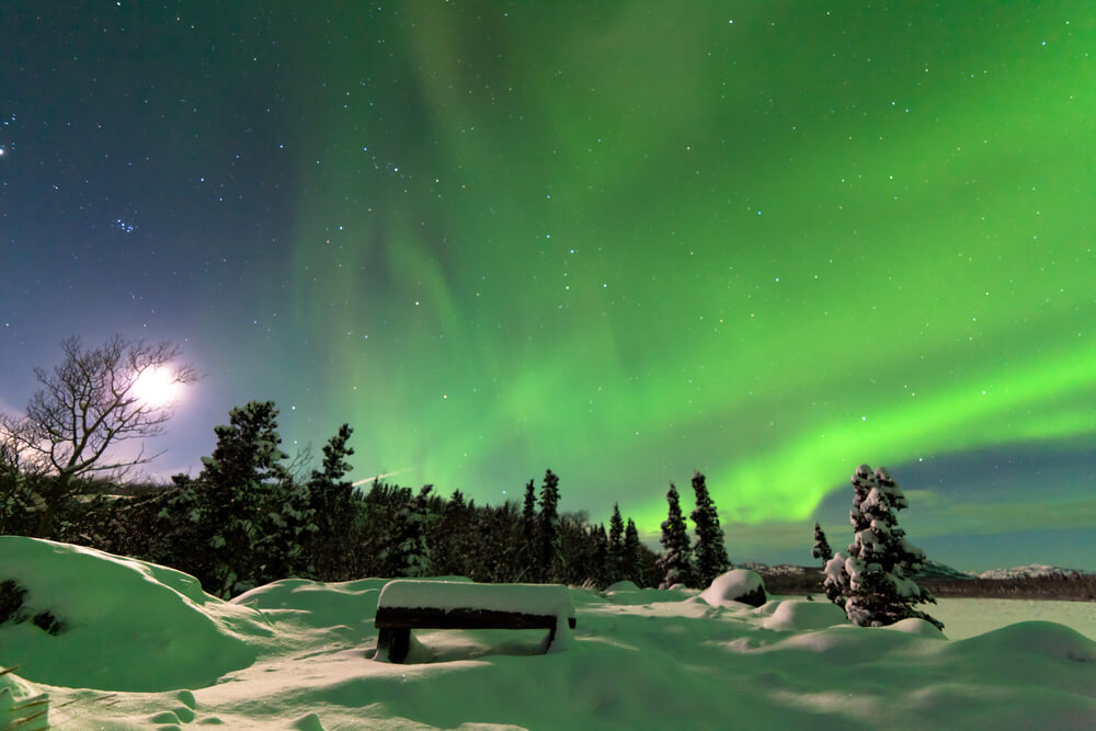 Северное сияние. Фото: depositphoto