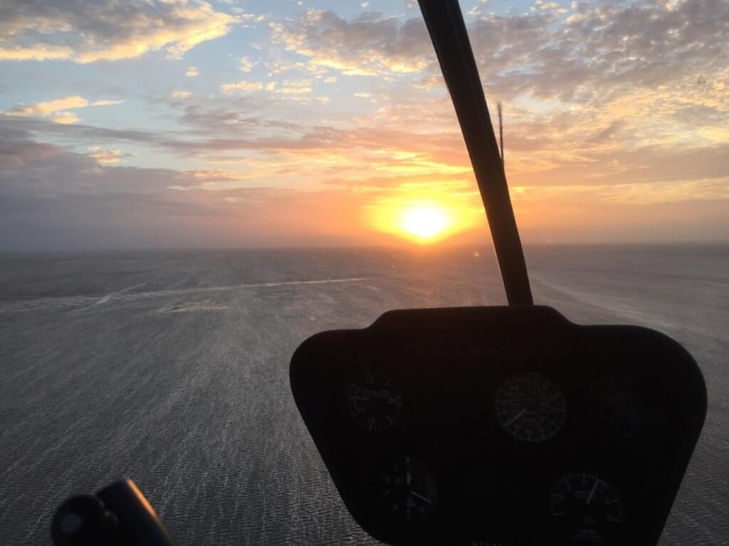 Во время полета вы можете стать свидетелем заходящего солнца. Фото: из личного архива SkyEagle