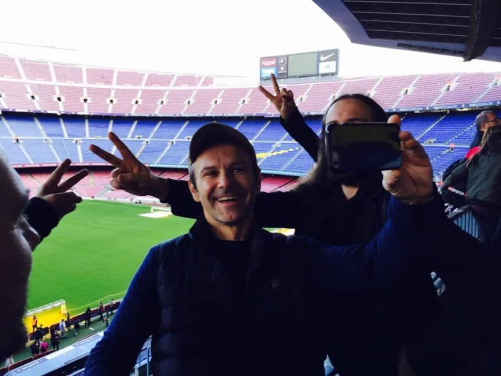 На стадионе Камп Ноу в Барселоне. Фото предоставлено организаторами гастролей.