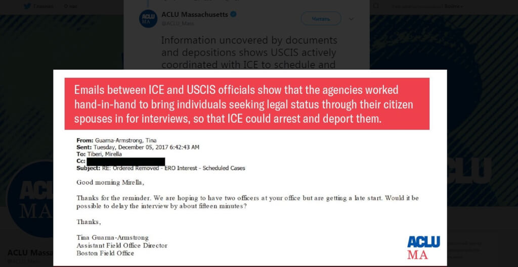 Citizenship Service helps ICE arrest immigrants during interviews on