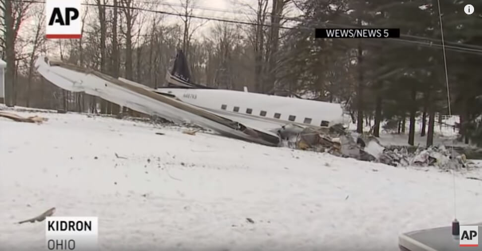 In Ohio, the plane crashed into a private courtyard: people died